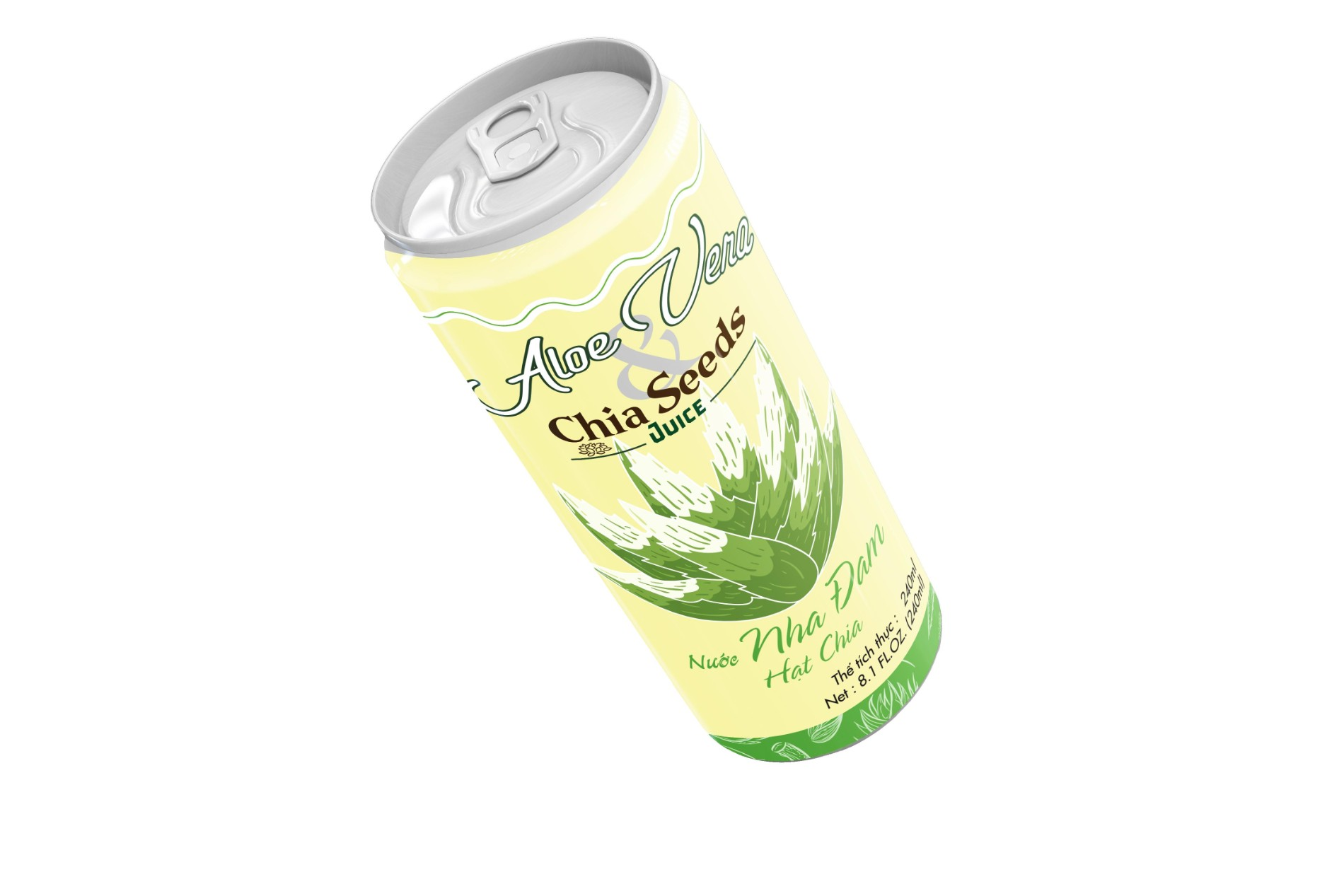 Aloe vera juice with chia seeds